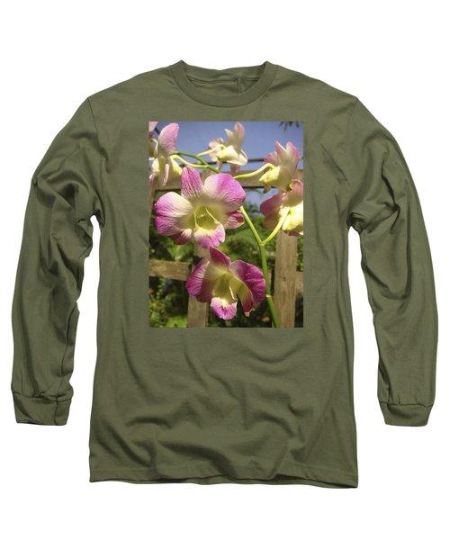 Long Sleeve T-Shirt featuring the photograph Orchid Splendor by Karen Zuk Rosenblatt