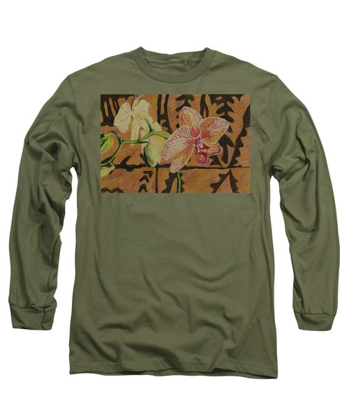 Orchid With Tapa Long Sleeve T-Shirt