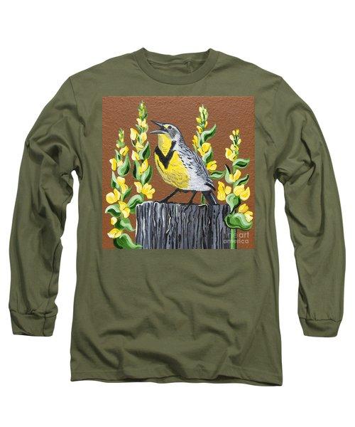 Oregon Meadowlark Long Sleeve T-Shirt