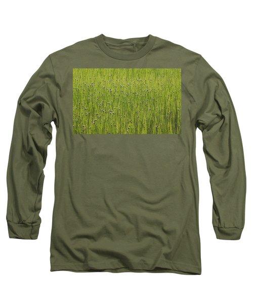 Organic Green Grass Backround Long Sleeve T-Shirt