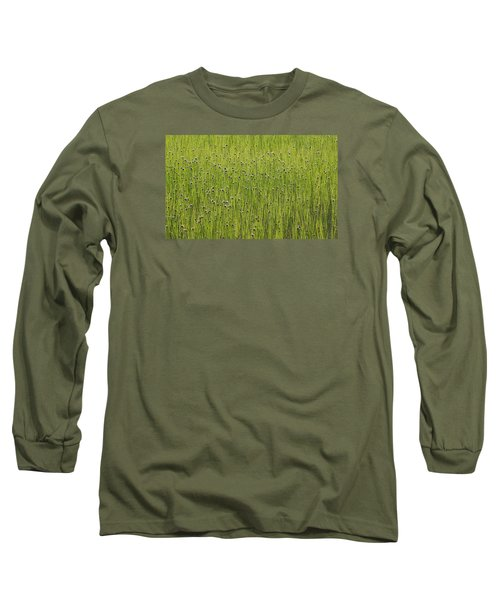 Organic Green Grass Backround Long Sleeve T-Shirt