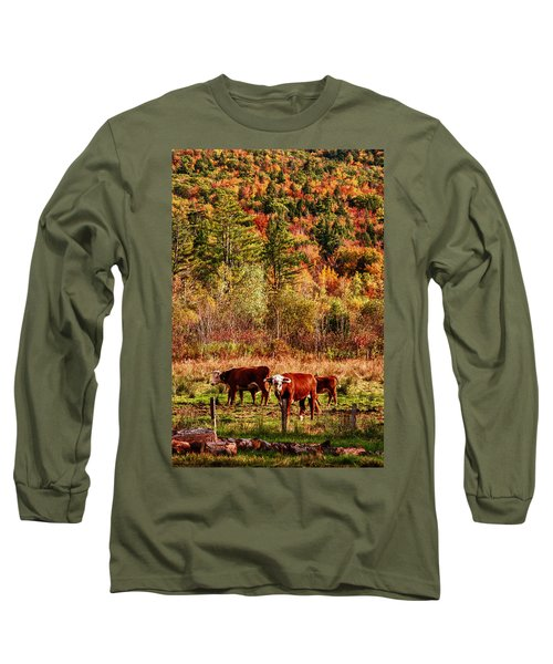 Long Sleeve T-Shirt featuring the photograph Cow Complaining About Much by Jeff Folger