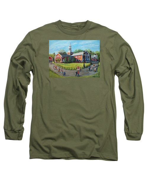 Our Time At Bentley University Long Sleeve T-Shirt by Rita Brown