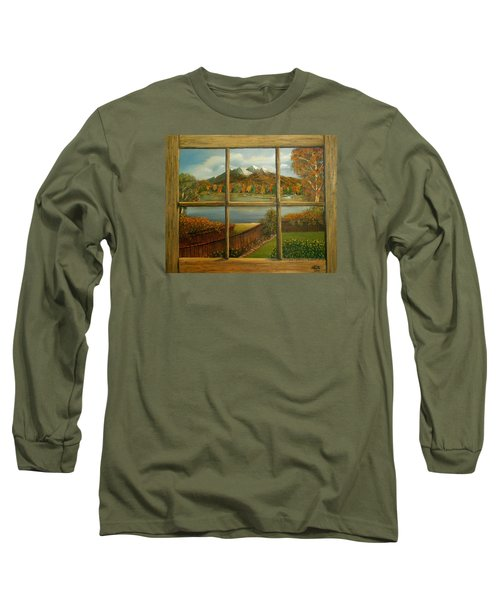 Out My Window-autumn Day Long Sleeve T-Shirt by Sheri Keith