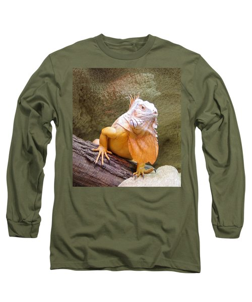 Out Of Africa Orange Lizard 1 Long Sleeve T-Shirt