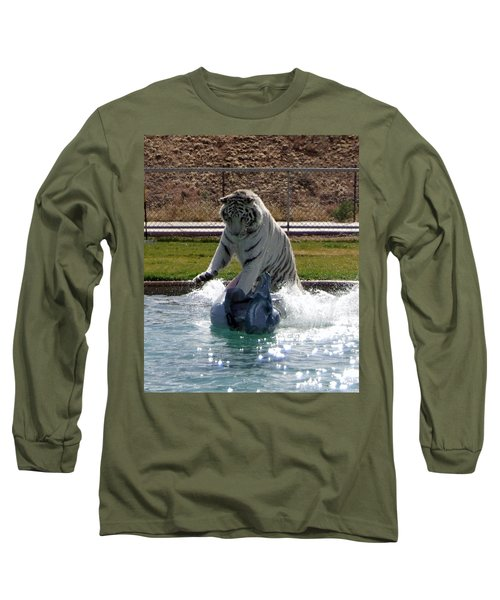 Out Of Africa Tiger Splash 1 Long Sleeve T-Shirt