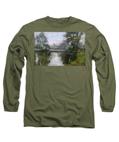 Outdoors At Hyde Park Long Sleeve T-Shirt by Ylli Haruni