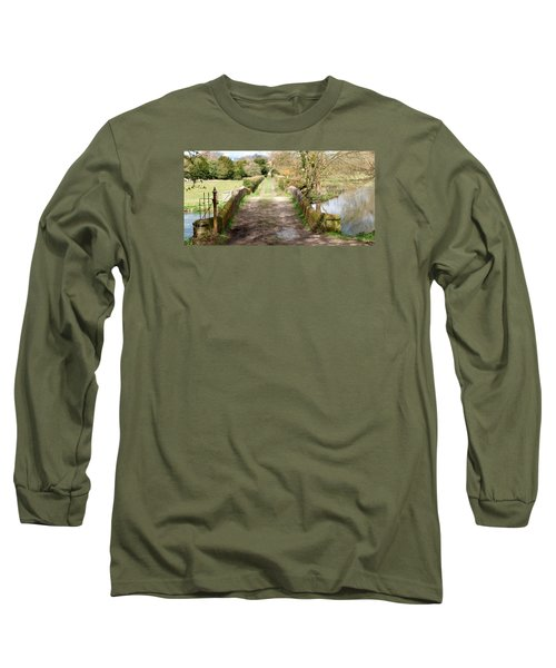 Long Sleeve T-Shirt featuring the photograph Over The River by Wendy Wilton