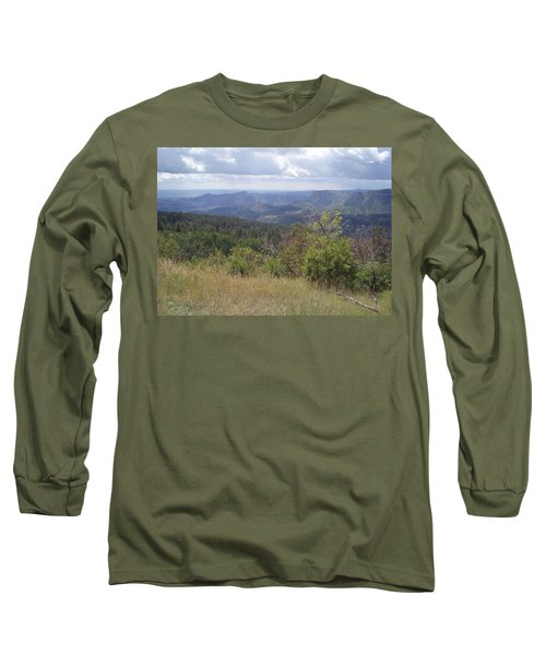 Long Sleeve T-Shirt featuring the photograph Overlook Into The Mist by Fortunate Findings Shirley Dickerson