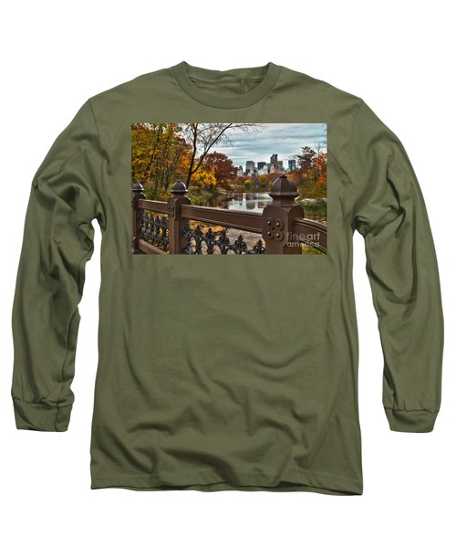 Overlooking The Lake Central Park New York City Long Sleeve T-Shirt