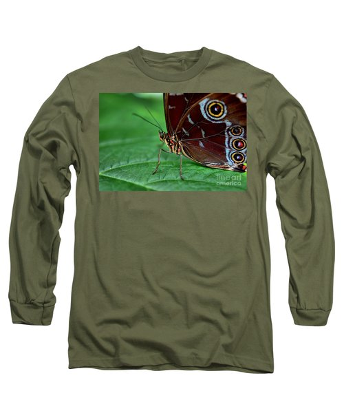 Owl Butterfly Long Sleeve T-Shirt