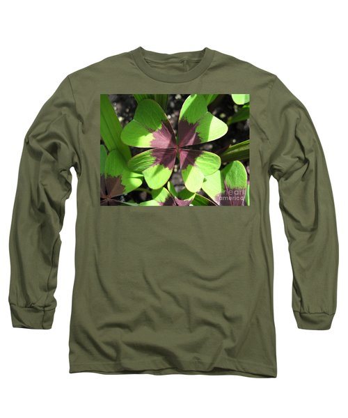 Oxalis Deppei Named Iron Cross Long Sleeve T-Shirt by J McCombie
