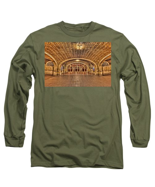 Long Sleeve T-Shirt featuring the photograph Oyster Bar Restaurant by Susan Candelario