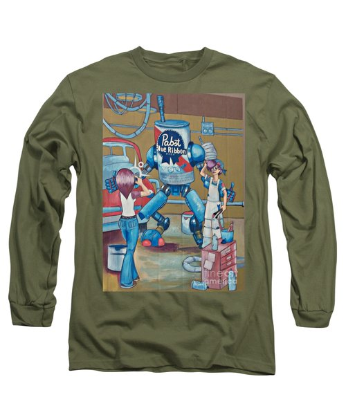 Pabst Mural In The Loop Long Sleeve T-Shirt