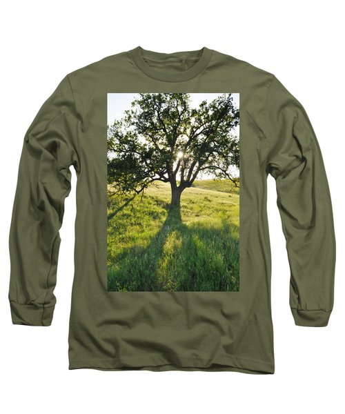 Long Sleeve T-Shirt featuring the photograph Pacific Coast Oak Malibu Creek by Kyle Hanson