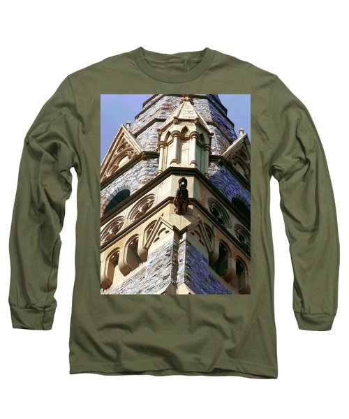 Packer Memorial Church Detail Long Sleeve T-Shirt by Jacqueline M Lewis