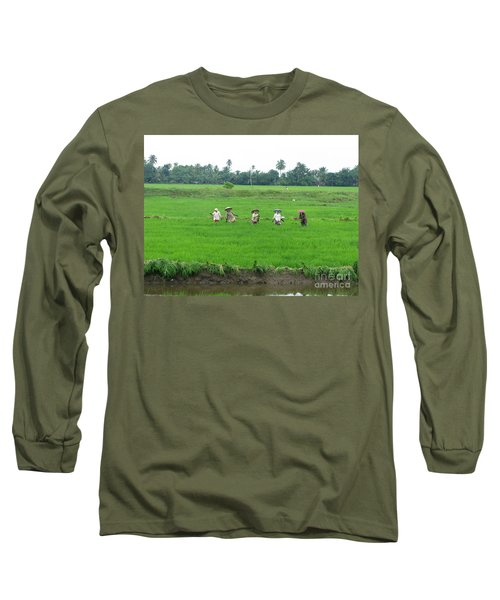 Paddy Field Workers Long Sleeve T-Shirt