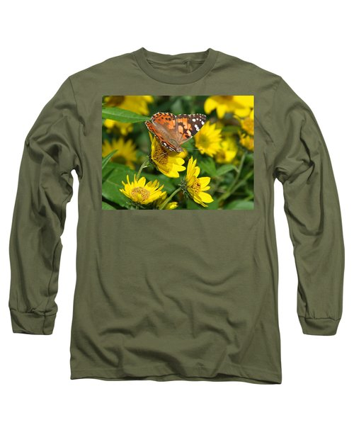 Long Sleeve T-Shirt featuring the photograph Painted Lady by James Peterson