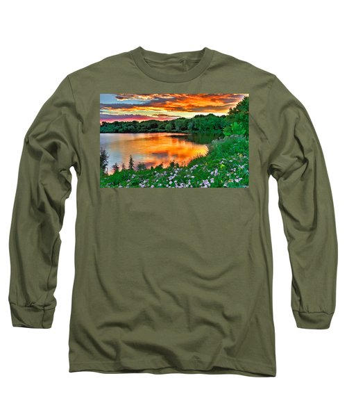 Painted Sunset Long Sleeve T-Shirt