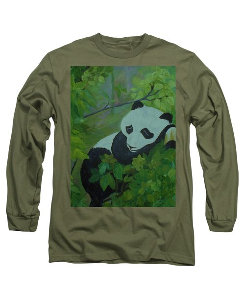 Panda Long Sleeve T-Shirt by Christy Saunders Church