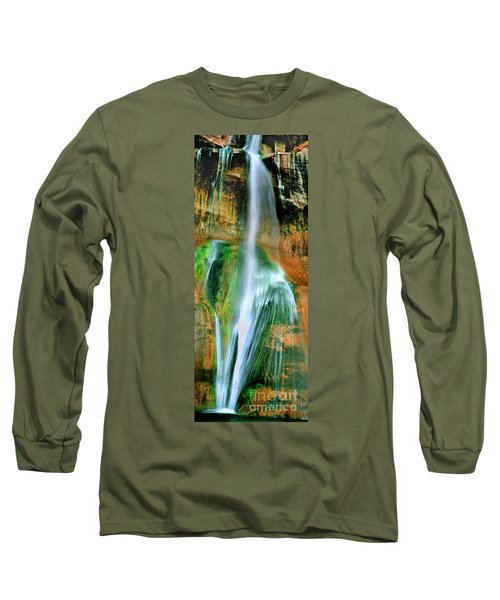 Long Sleeve T-Shirt featuring the photograph Panorama Lower Calf Creek Falls Escalante Nm Utah by Dave Welling