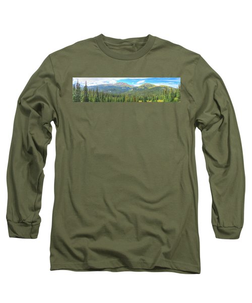 Long Sleeve T-Shirt featuring the photograph Panoramic Boreas Pass by Lanita Williams