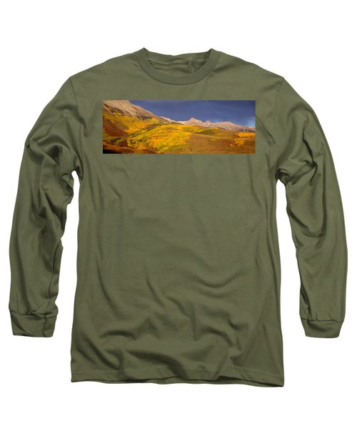 Panoramic View Of Mountains, Telluride Long Sleeve T-Shirt