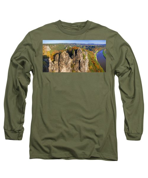 Panoramic Views Of Neurathen Castle Long Sleeve T-Shirt