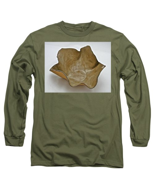 Long Sleeve T-Shirt featuring the sculpture Paper-thin Bowl  09-010 by Mario Perron