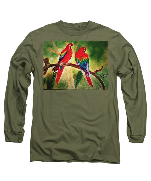 Parakeets In Paradise Long Sleeve T-Shirt
