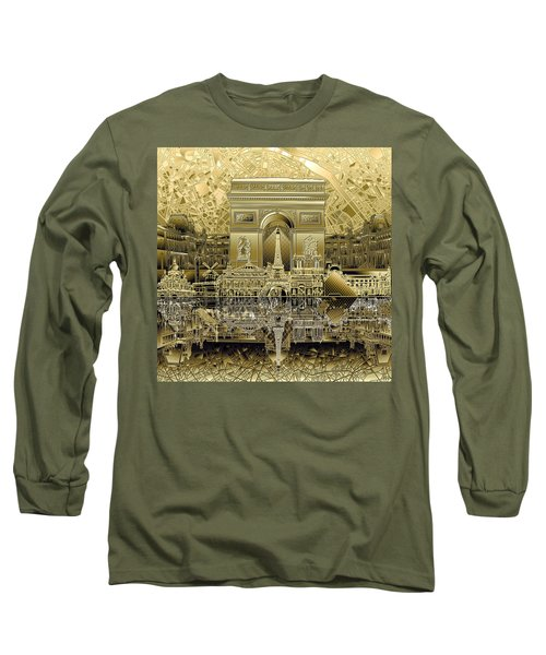 Paris Skyline Landmarks 4 Long Sleeve T-Shirt