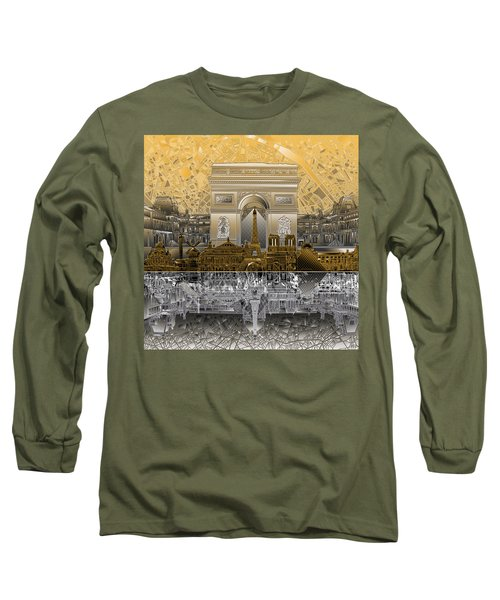 Paris Skyline Landmarks 5 Long Sleeve T-Shirt