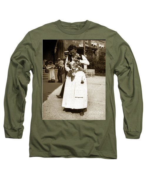 Long Sleeve T-Shirt featuring the photograph Parisian Woman Lady Paris France 1900 Historical Photo by California Views Mr Pat Hathaway Archives