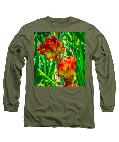 Long Sleeve T-Shirt featuring the photograph Parrot Gladiolus by Rob Sellers