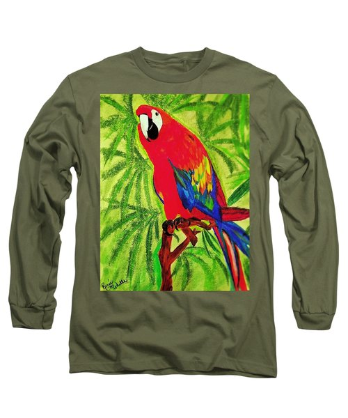 Parrot In Paradise Long Sleeve T-Shirt