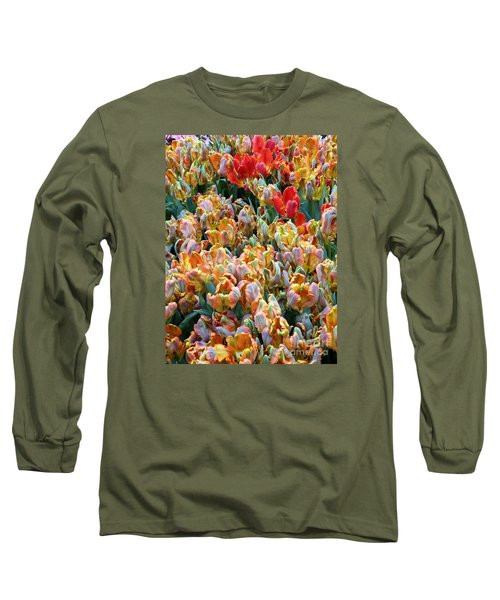 Long Sleeve T-Shirt featuring the photograph Parrot Tulips by Tanya  Searcy