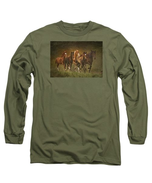 Long Sleeve T-Shirt featuring the photograph Paso Peruvians by Priscilla Burgers