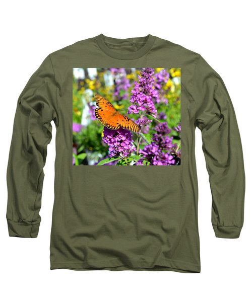 Passion Butterfly Long Sleeve T-Shirt by Deena Stoddard