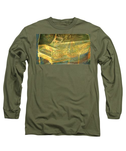 Long Sleeve T-Shirt featuring the mixed media Past To Present by Ally  White