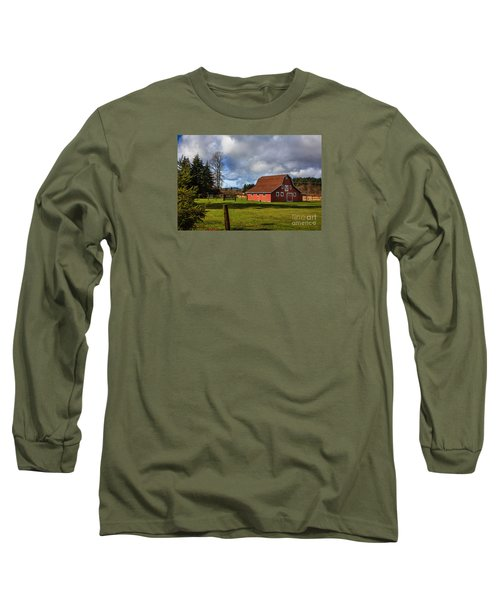 Long Sleeve T-Shirt featuring the photograph Pasture For Rent by Jean OKeeffe Macro Abundance Art