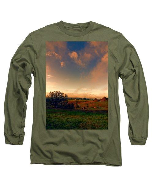 Pastureland Long Sleeve T-Shirt by Don Schwartz