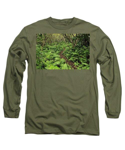 Path Through Jozani Np Zanzibar Tanzania Long Sleeve T-Shirt