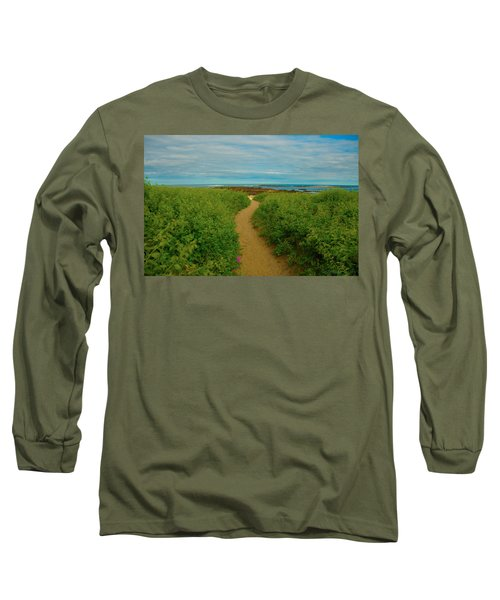 Long Sleeve T-Shirt featuring the photograph Path To Blue by Brenda Jacobs