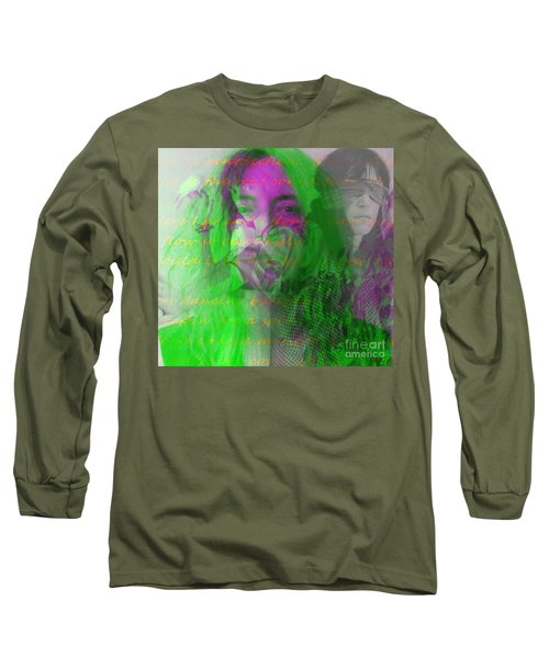Patti Smith Dancing Barefoot Long Sleeve T-Shirt by Elizabeth McTaggart