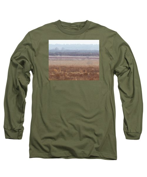 Long Sleeve T-Shirt featuring the photograph Paynes Prairie White Birds by Paul Rebmann