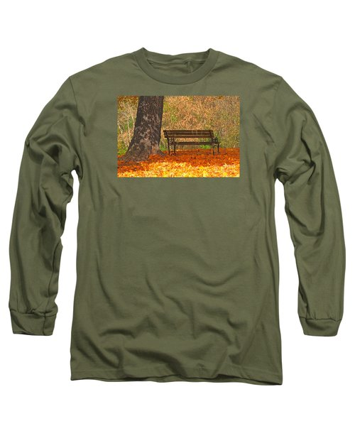 Long Sleeve T-Shirt featuring the photograph Peace And Quiet by Geraldine DeBoer