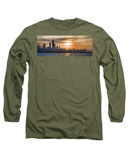 Peaceful Chicago Long Sleeve T-Shirt
