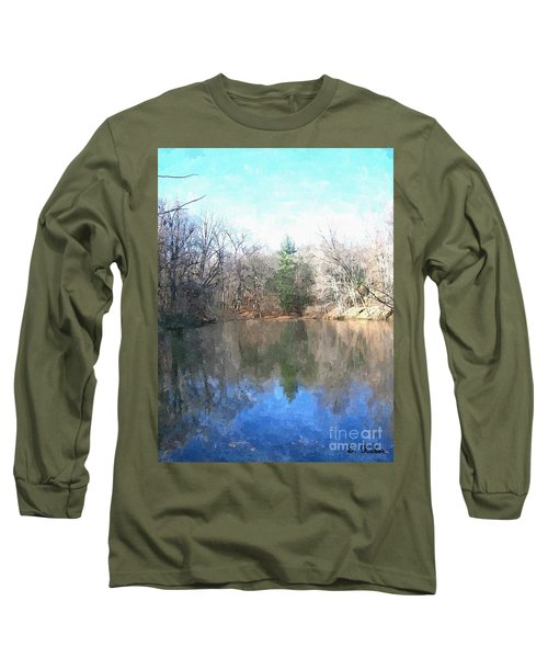 Long Sleeve T-Shirt featuring the painting Peaceful Retreat 2 by Sara  Raber