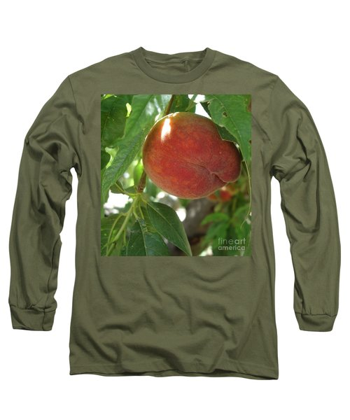 Long Sleeve T-Shirt featuring the photograph Peach by Kerri Mortenson