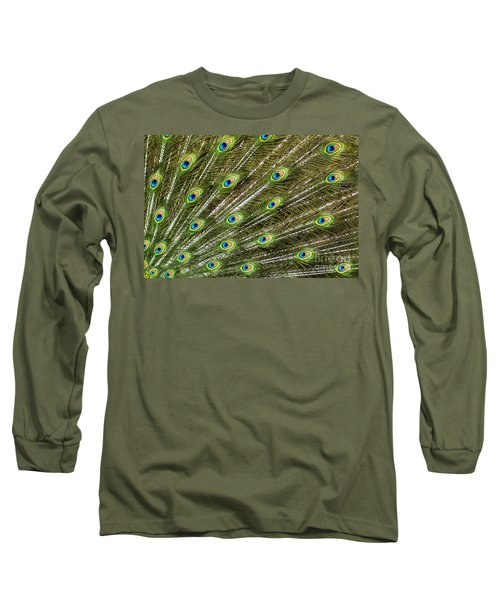 Peacock Feather Abstract Pattern Long Sleeve T-Shirt